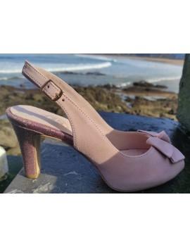 Andrea, Peep toe ante rosa...